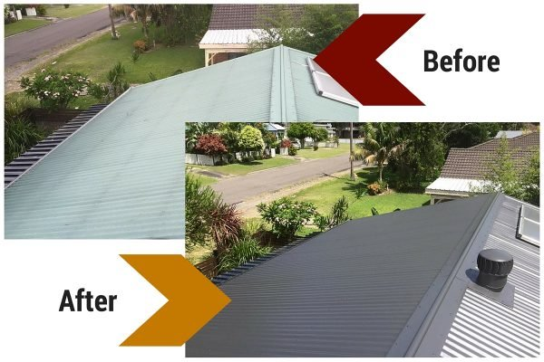 Before and After Roof Painting and Restoration
